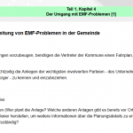 Der Fahrplan zur Bearbeitung von EMF-Problemen in der Gemeinde